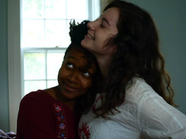 Ayanna Woods '14 and Sonya Levitova '14 basking in Slove (Slav love).