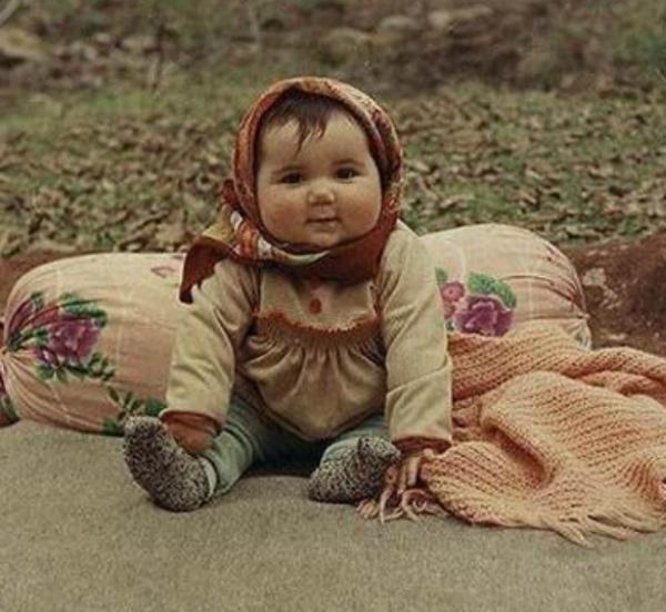 Chubby Cheeked Babushka Baby