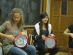 Slavs learn doumbek drumming from an expert