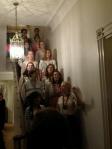 Slavic Chorus on stairs