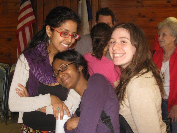 Maclovia, Hana & Katy wait to judge the BBQ