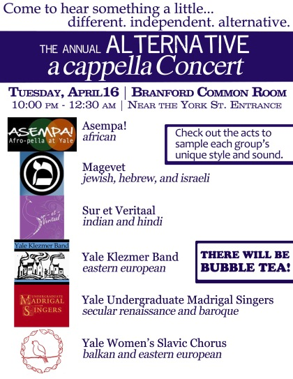 alternative a cappella flyer - BDD 2013