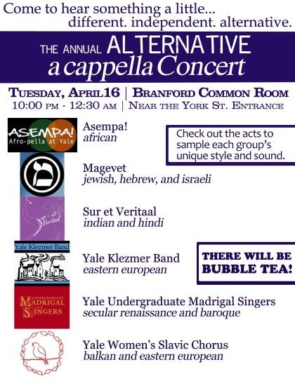 alternative a cappella flyer - BDD 2013